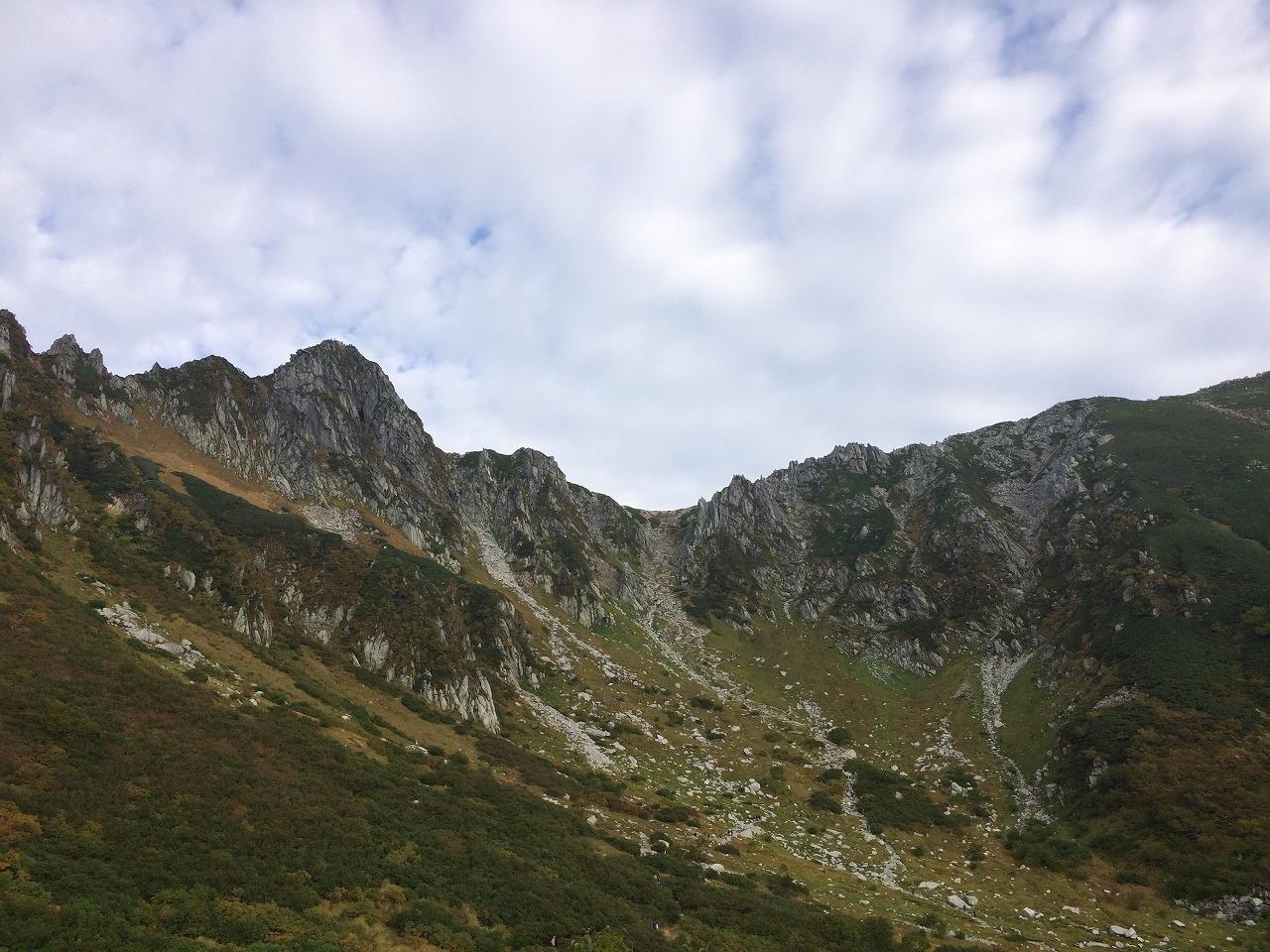 宝剣岳が印象的。