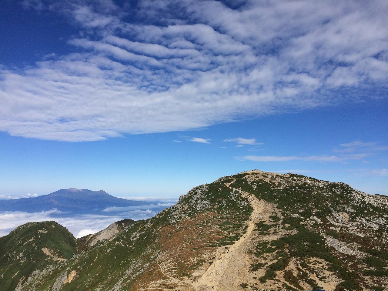 御嶽山と木曽駒ヶ岳