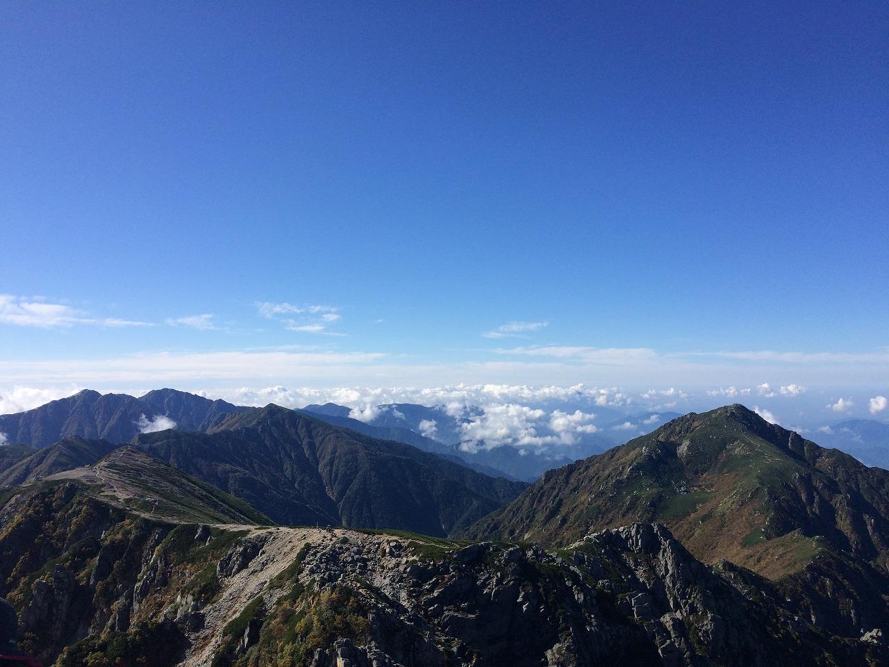 宝剣岳の先
