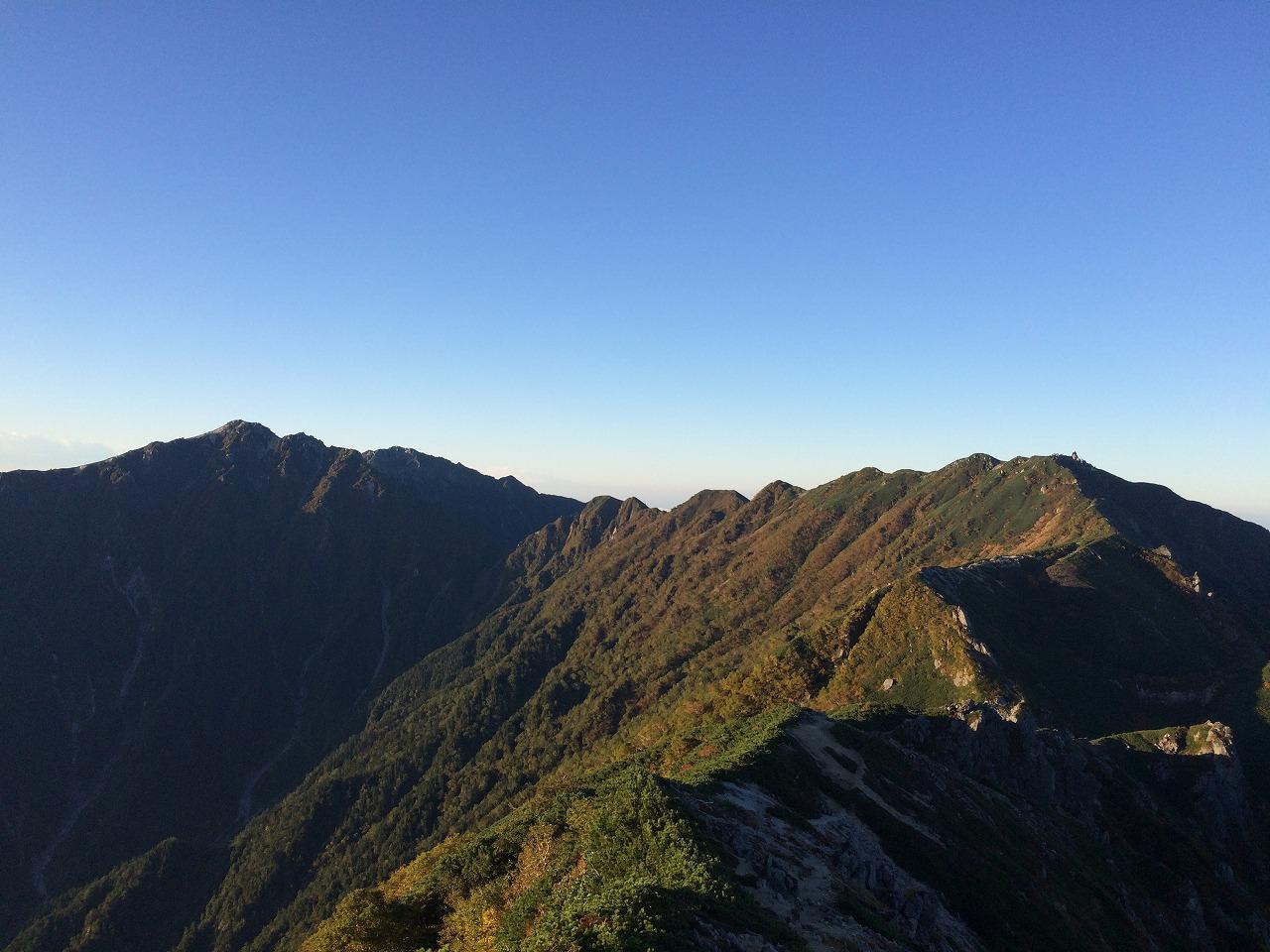 空木岳への道。