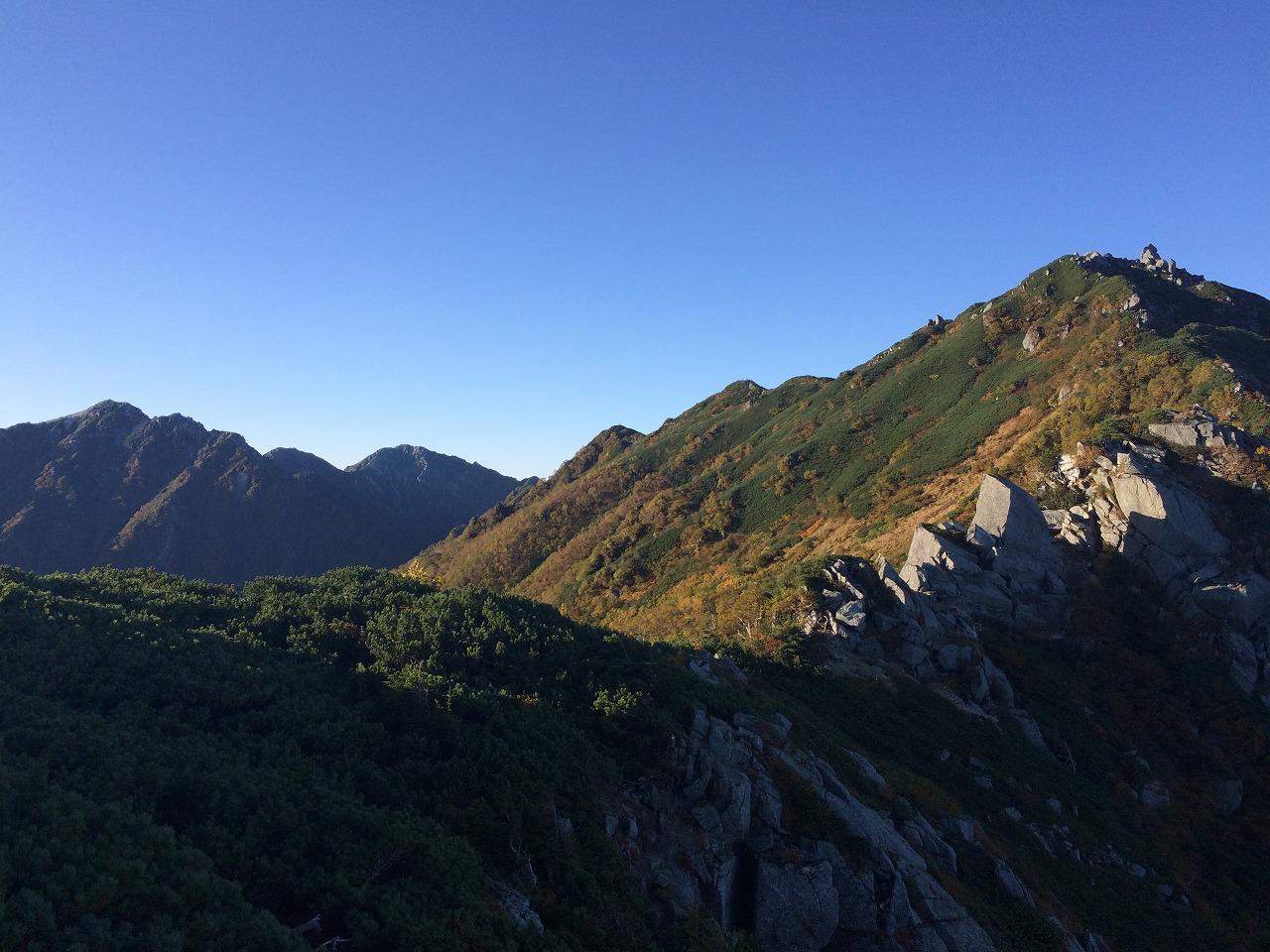 熊沢岳へのアプローチ。
