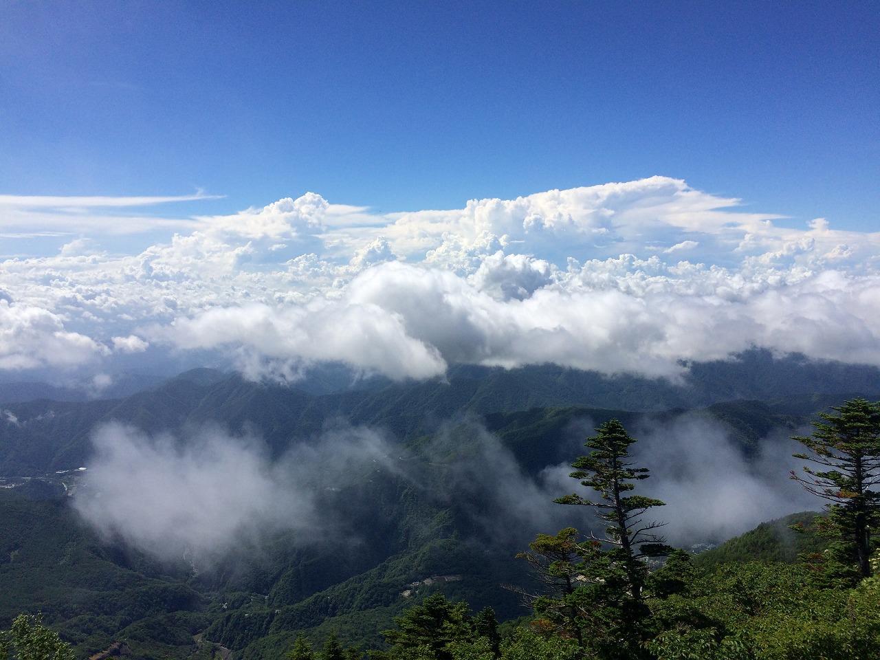 雲が・・・!