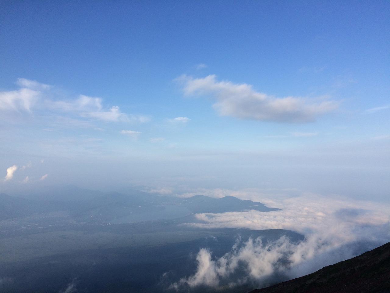 雲海が凄い。