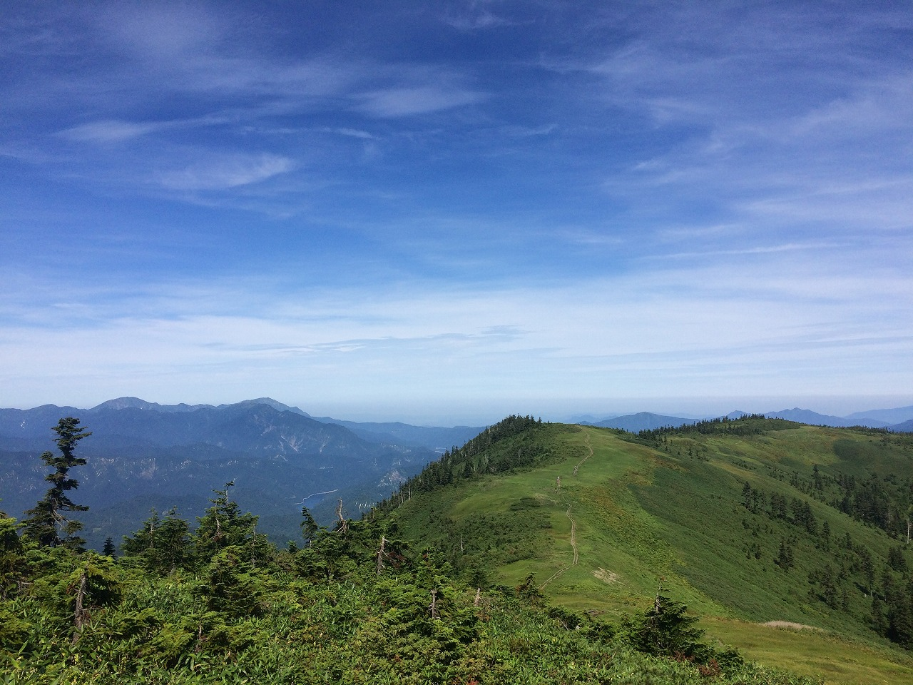 越後駒ヶ岳が視界に。