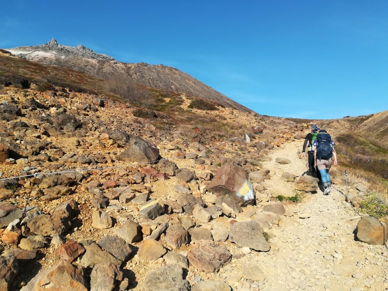 左には茶臼岳