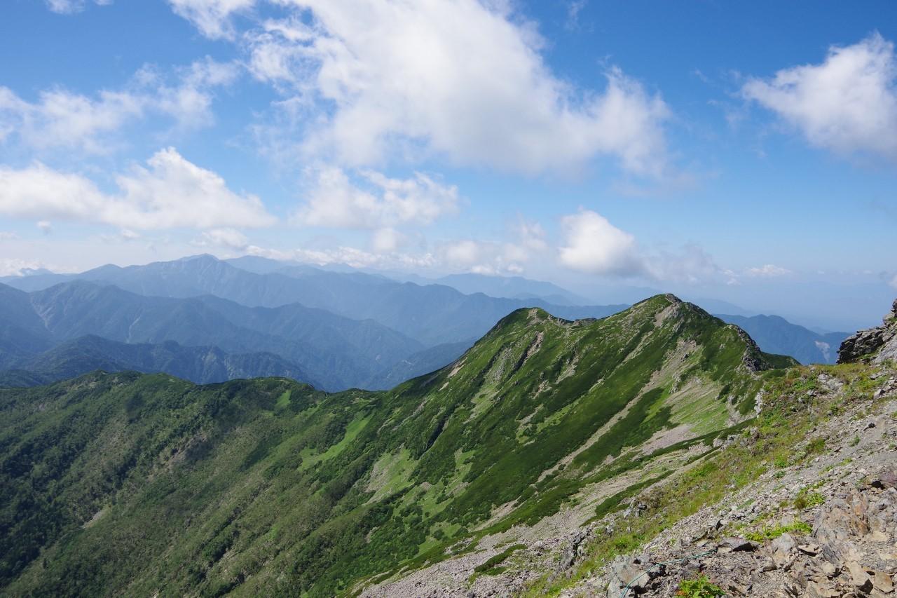大仙丈ヶ岳方面