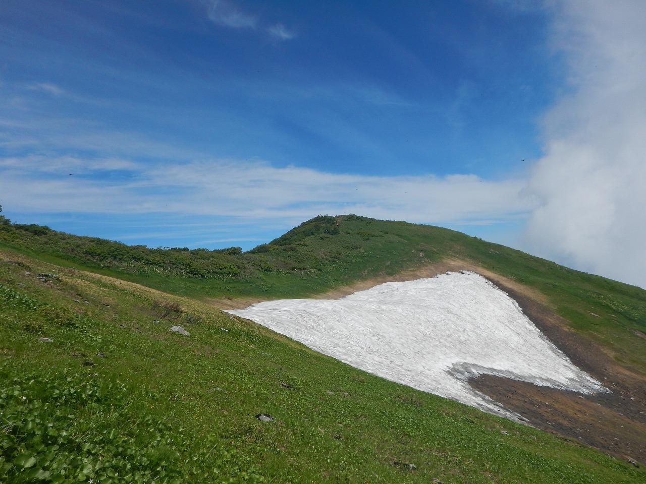 真夏の雪渓2
