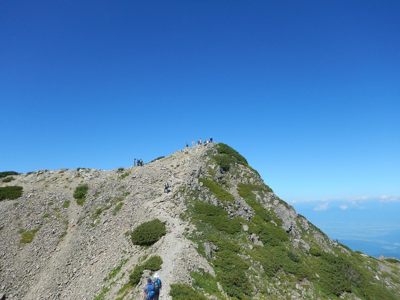 山頂まであとわずか