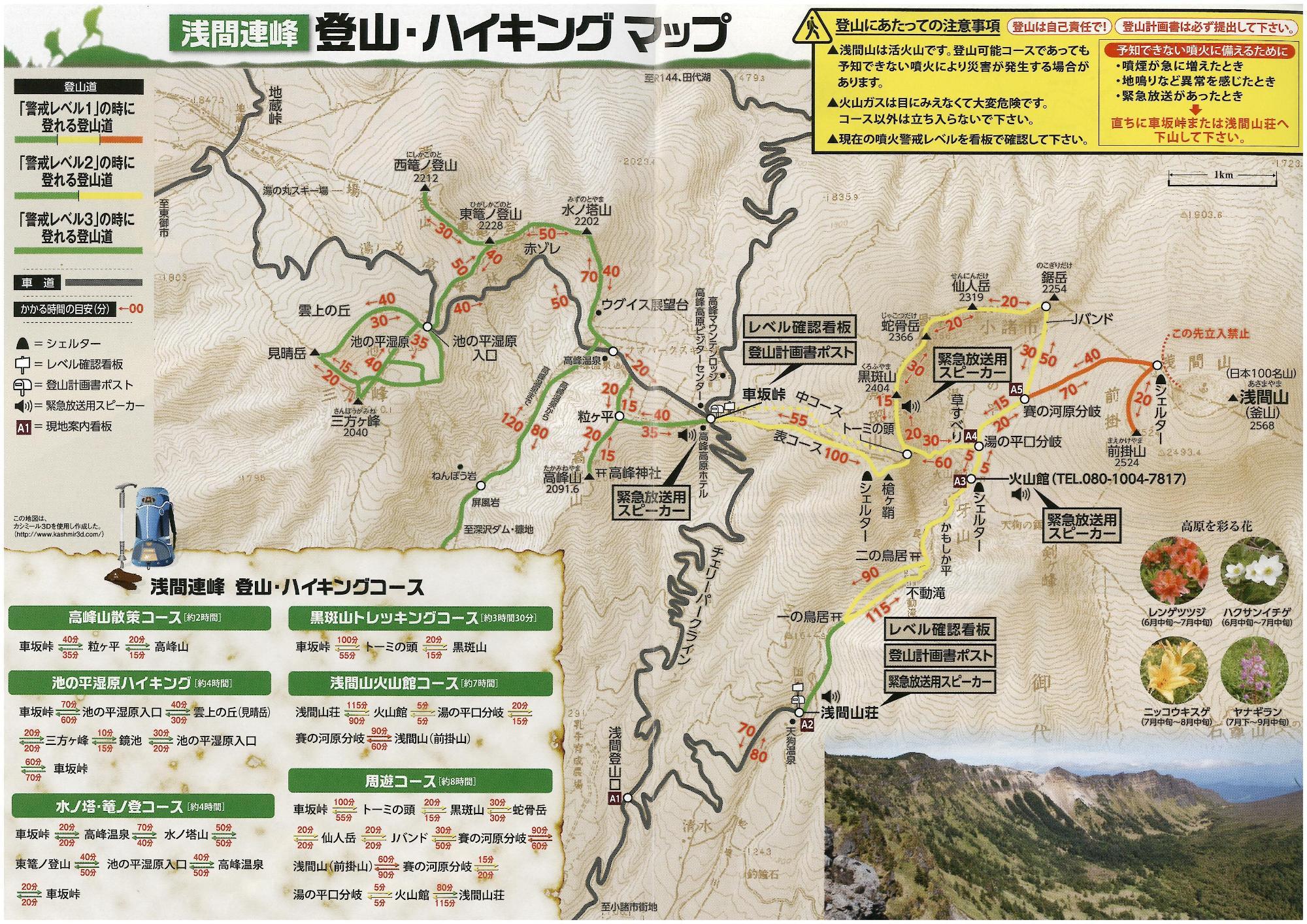 浅間山総図