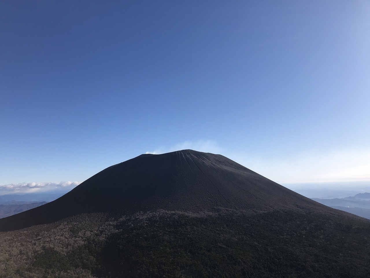 浅間山は遥か遠く