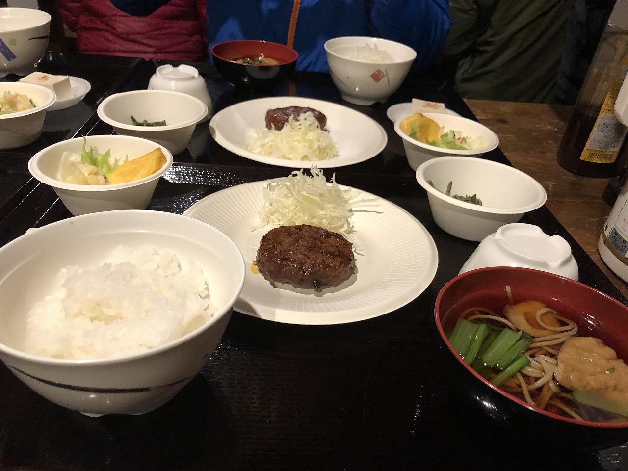 雲取山荘、夕食