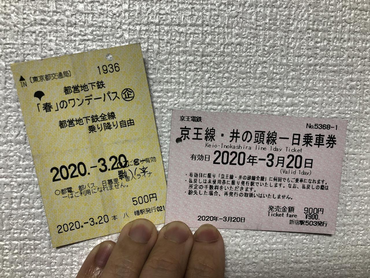この2枚で東京を駆け巡りました。