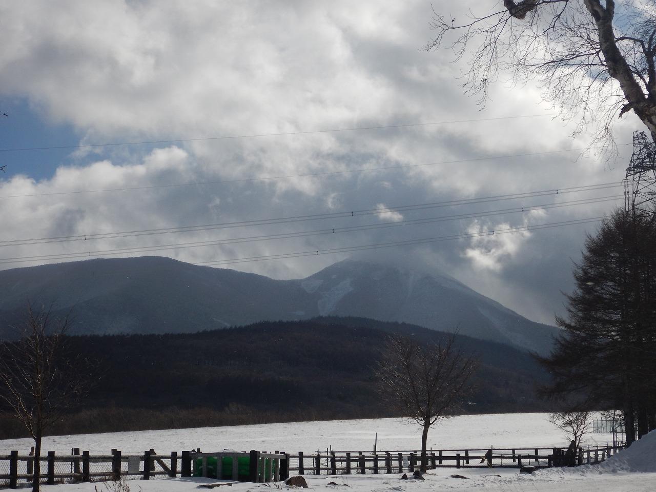 蓼科山、山頂は雲の中