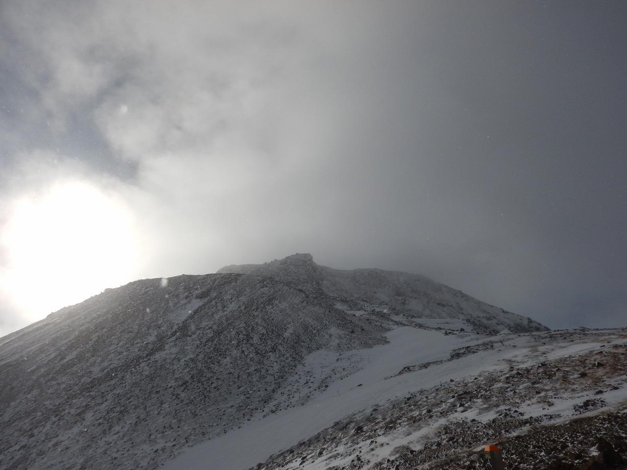 冬の茶臼岳