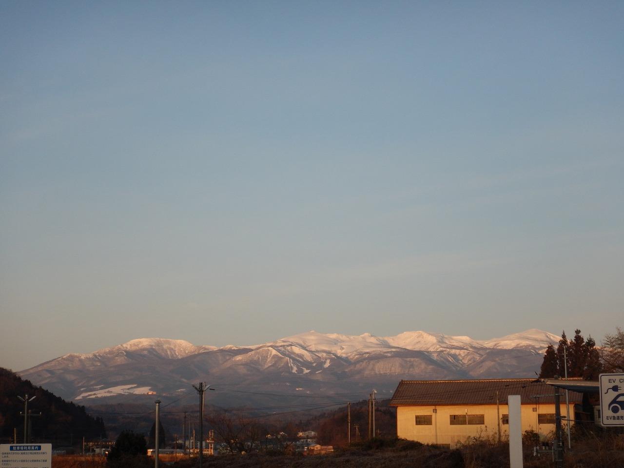 駐車場から見る安達太良山