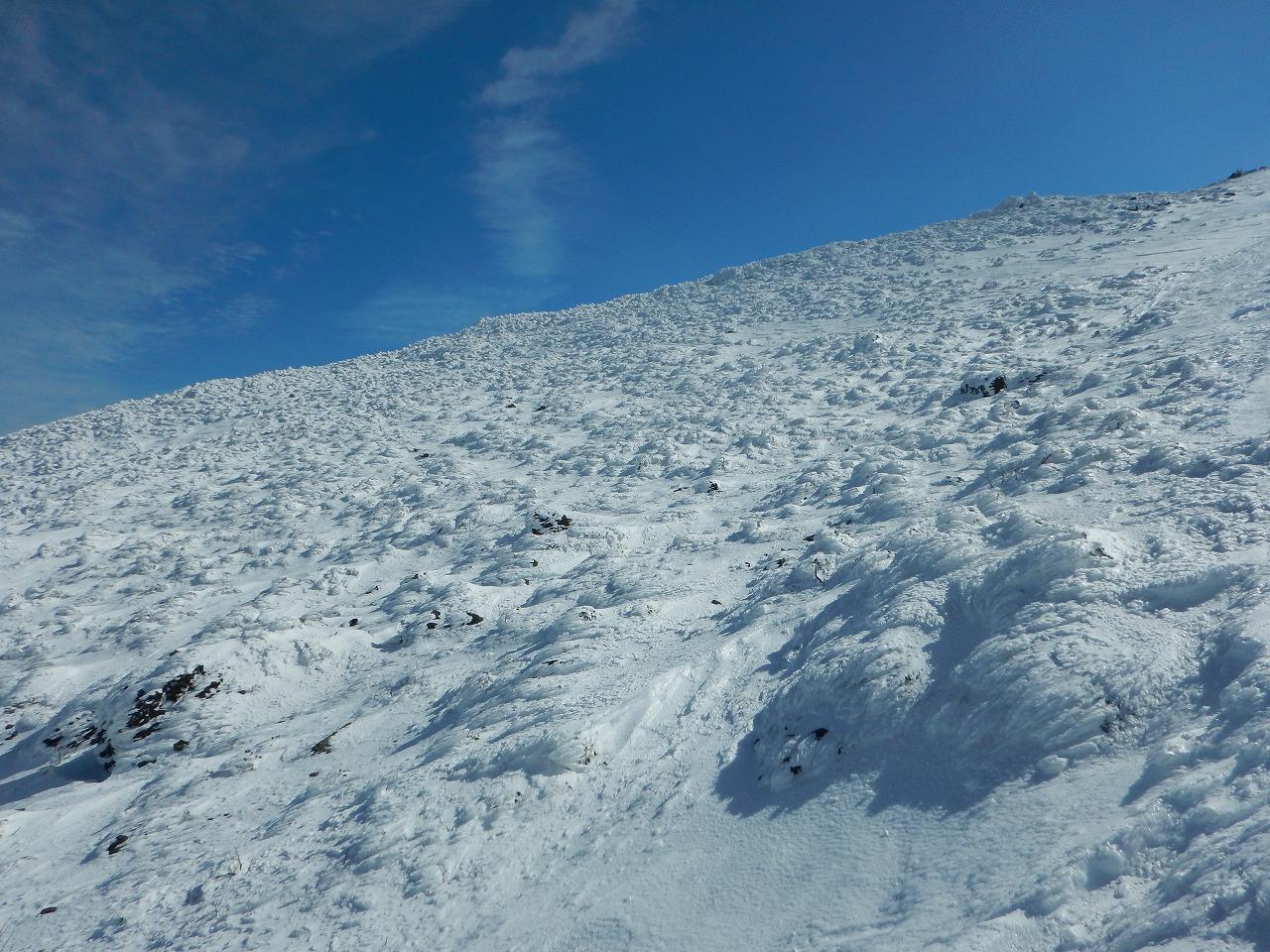 すさまじい冬山の景色