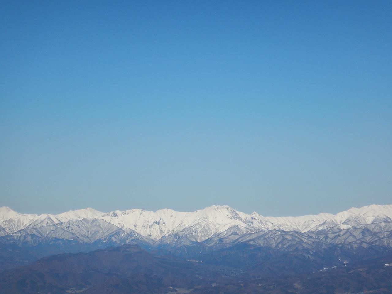 中央に見えているのは谷川岳