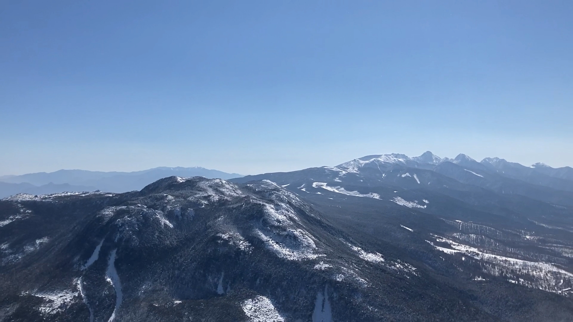 目の前には八ヶ岳連峰