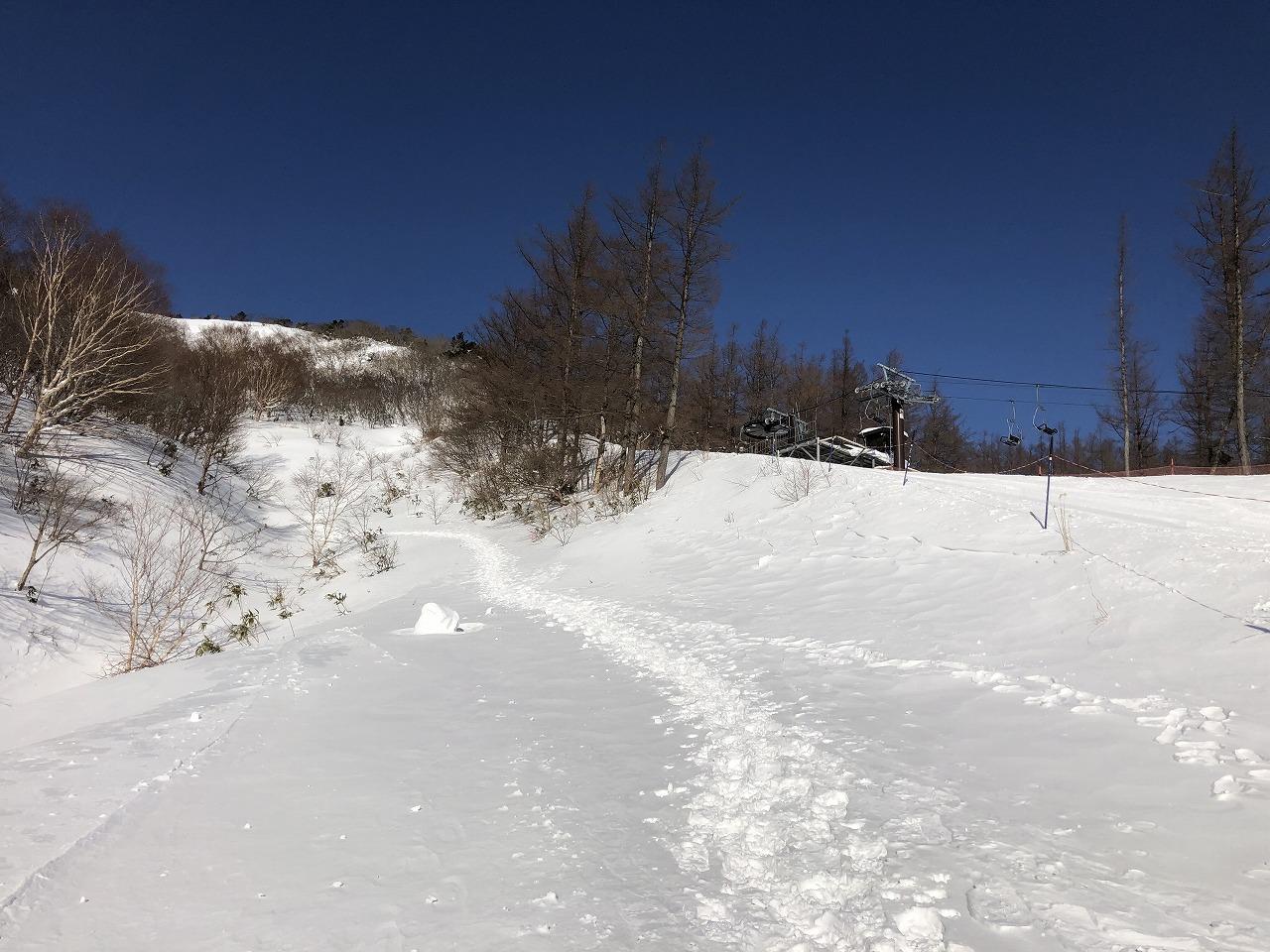 こんな道を登ります