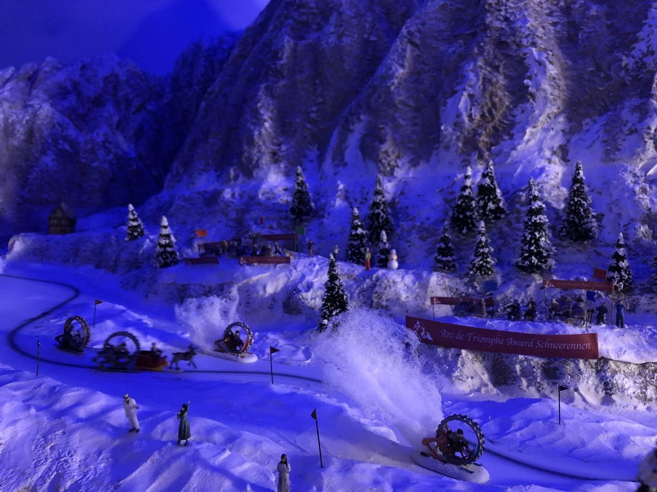幻想的な雪山