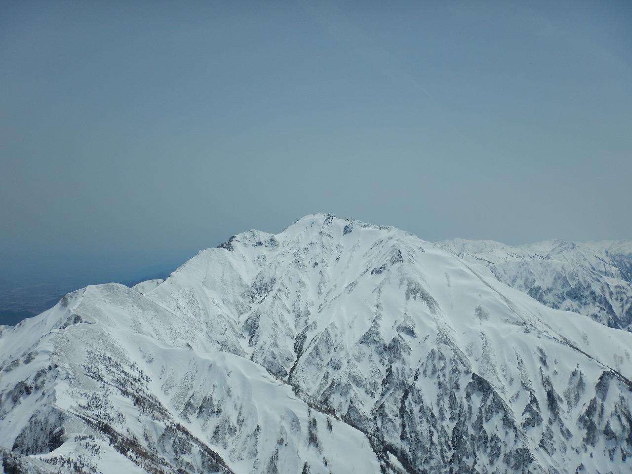 唐松岳山頂からの五竜岳!