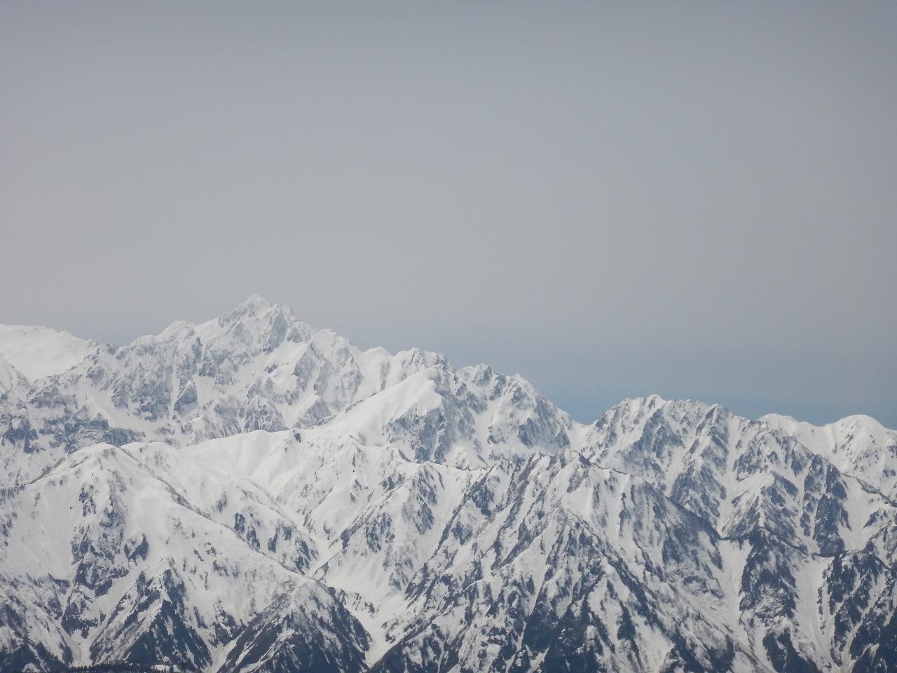 唐松岳山頂からの剱岳!