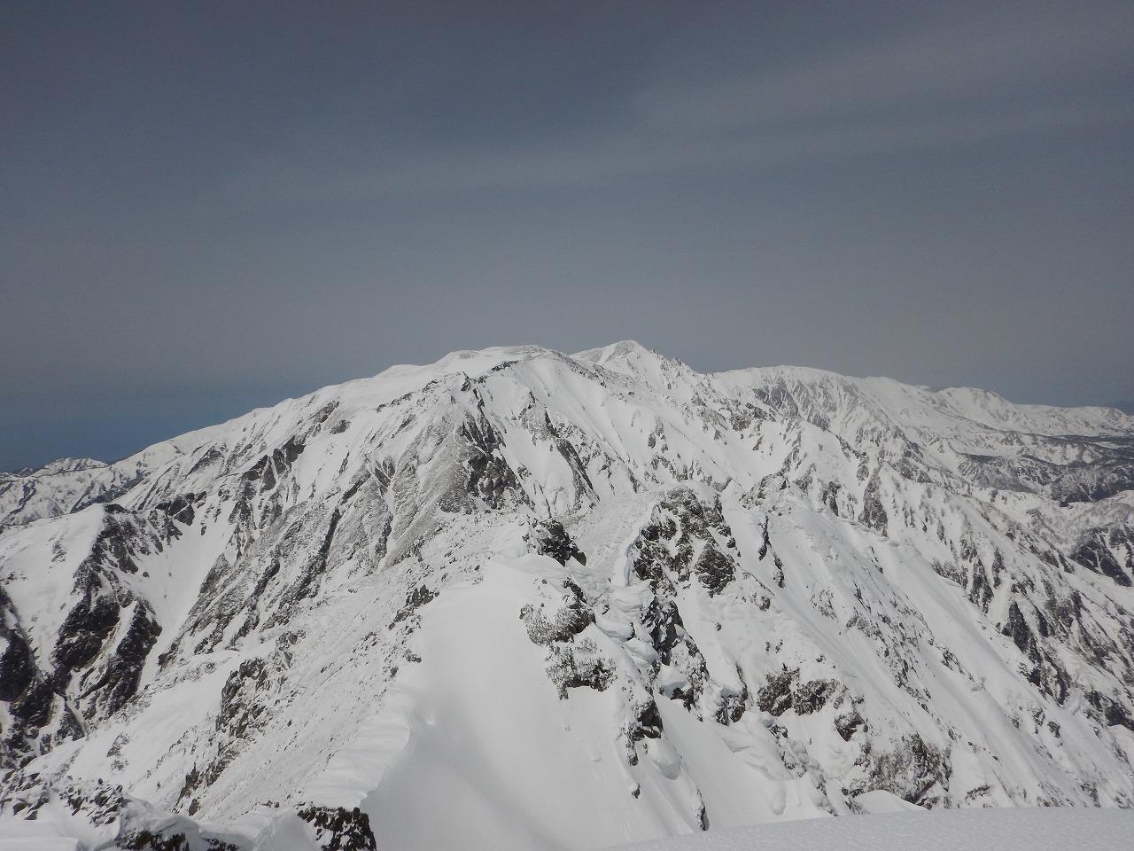 唐松岳山頂からの白馬方面!
