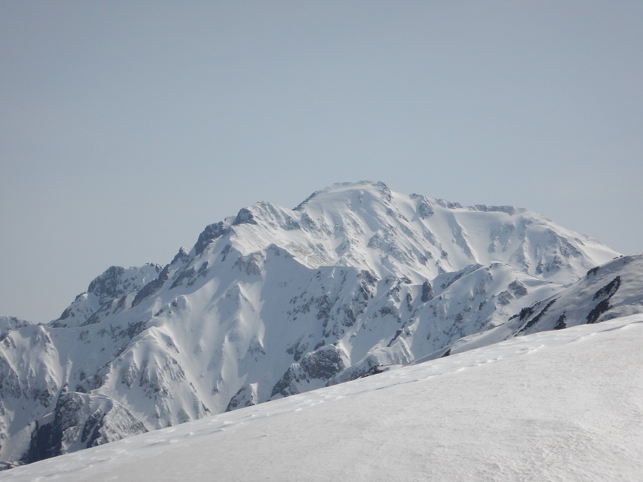 午後の五竜岳