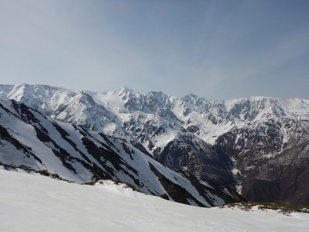 午後の白馬三山