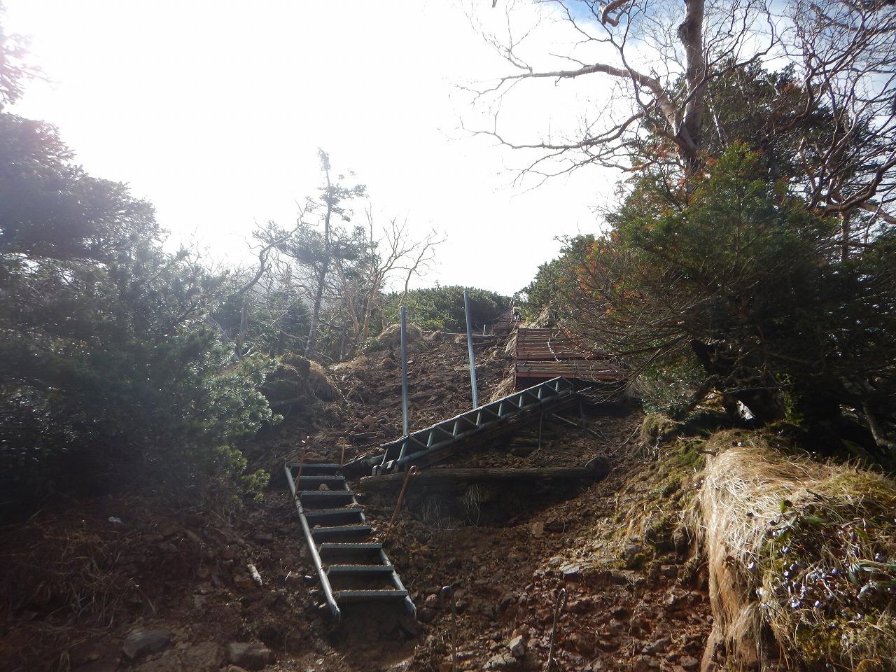 現れた階段